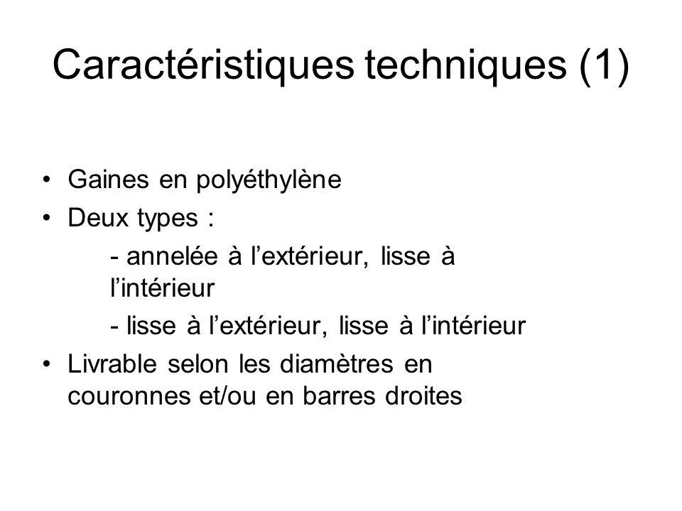 Caractéristiques techniques (1)
