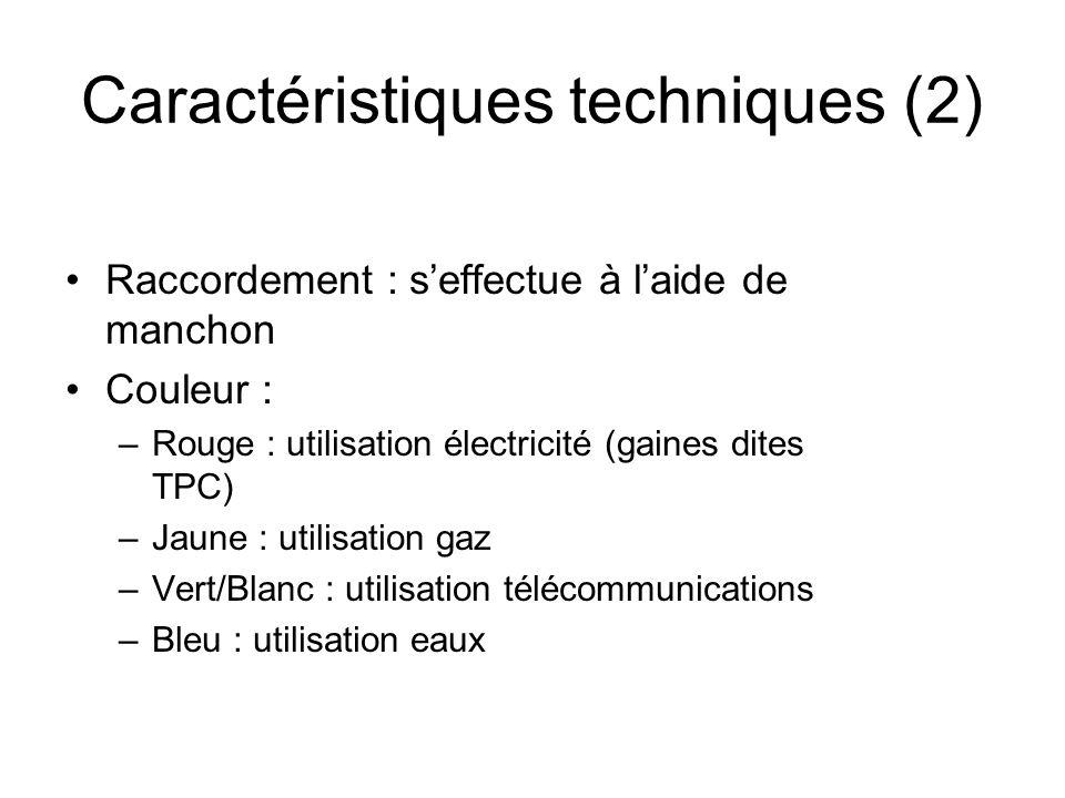Caractéristiques techniques (2)