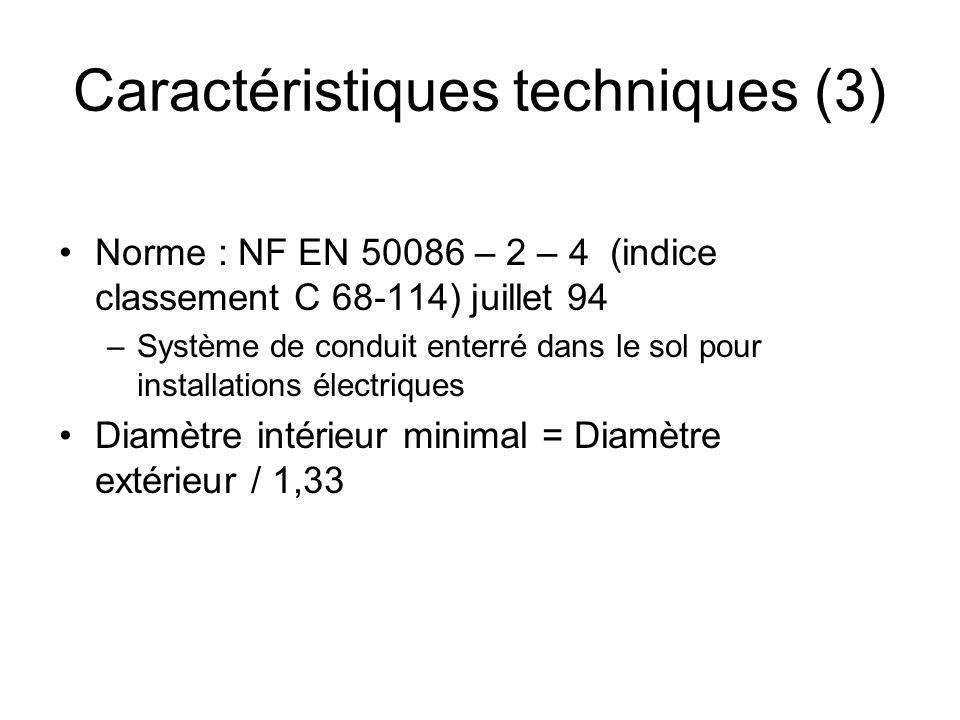 Caractéristiques techniques (3)