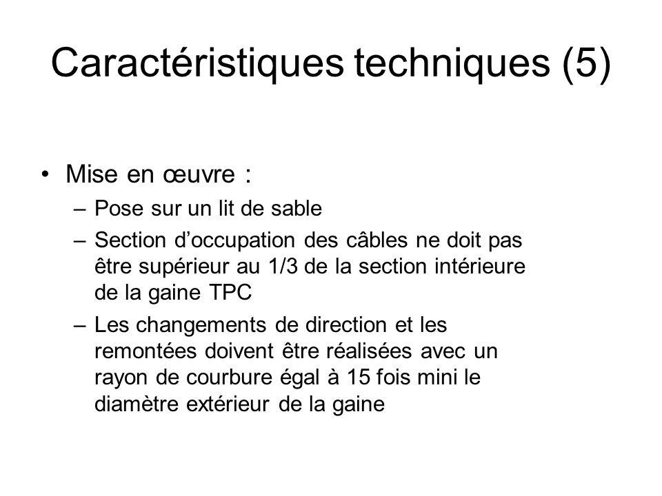 Caractéristiques techniques (5)