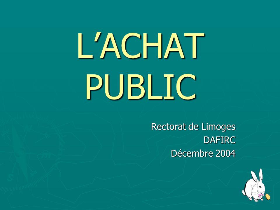 Rectorat de Limoges DAFIRC Décembre 2004