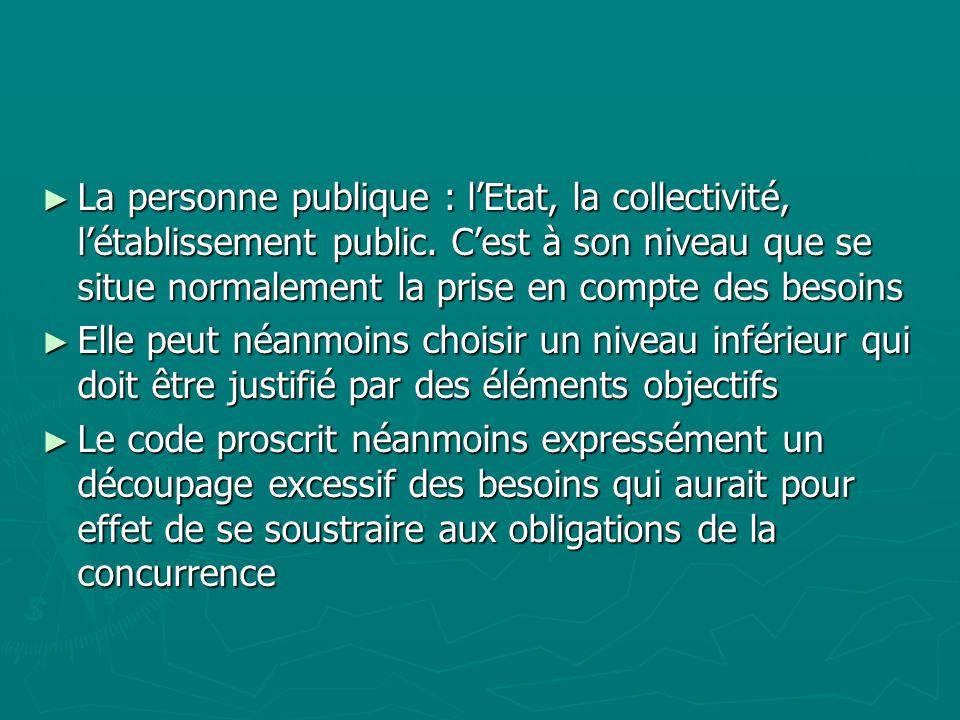 La personne publique : l'Etat, la collectivité, l'établissement public