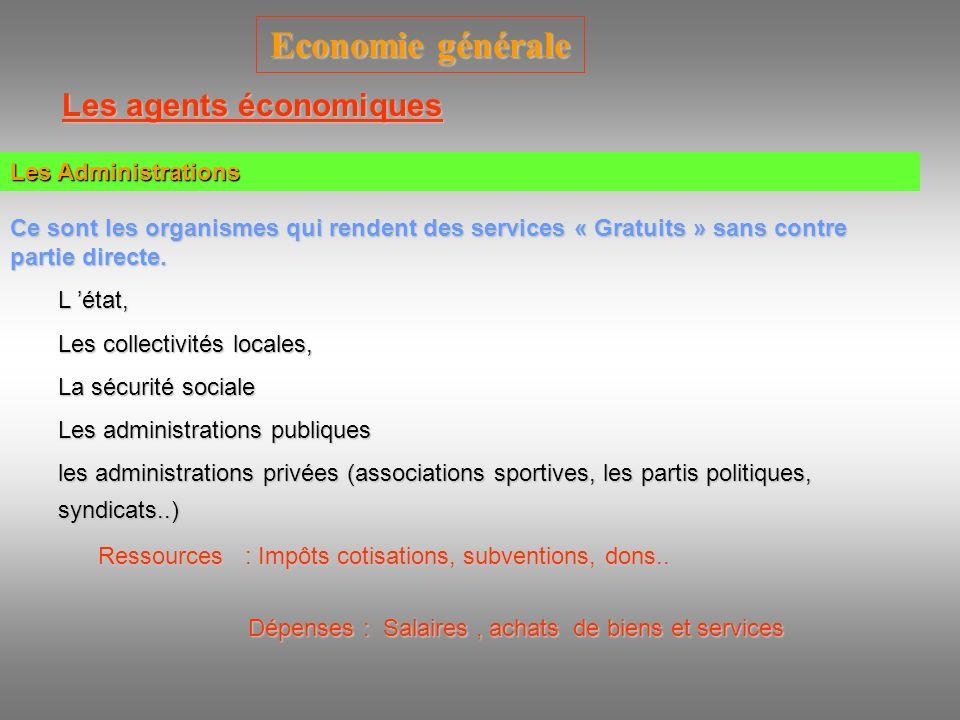 Les agents économiques