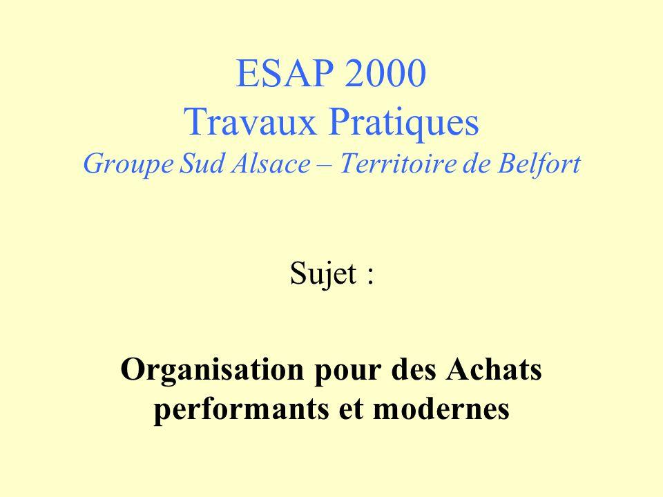 ESAP 2000 Travaux Pratiques Groupe Sud Alsace – Territoire de Belfort