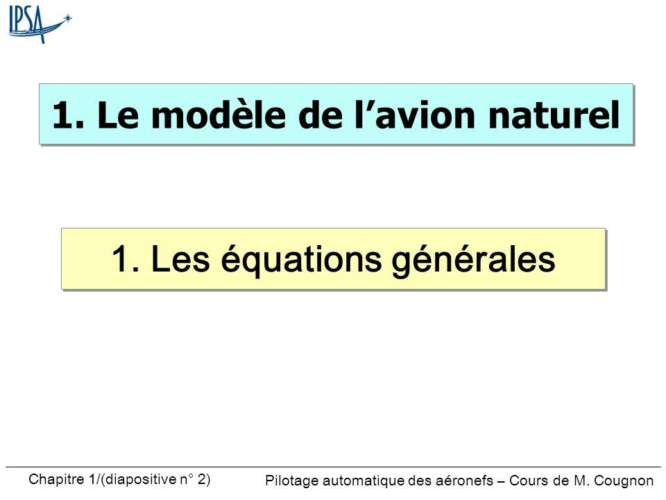 1. Le modèle de l'avion naturel 1. Les équations générales
