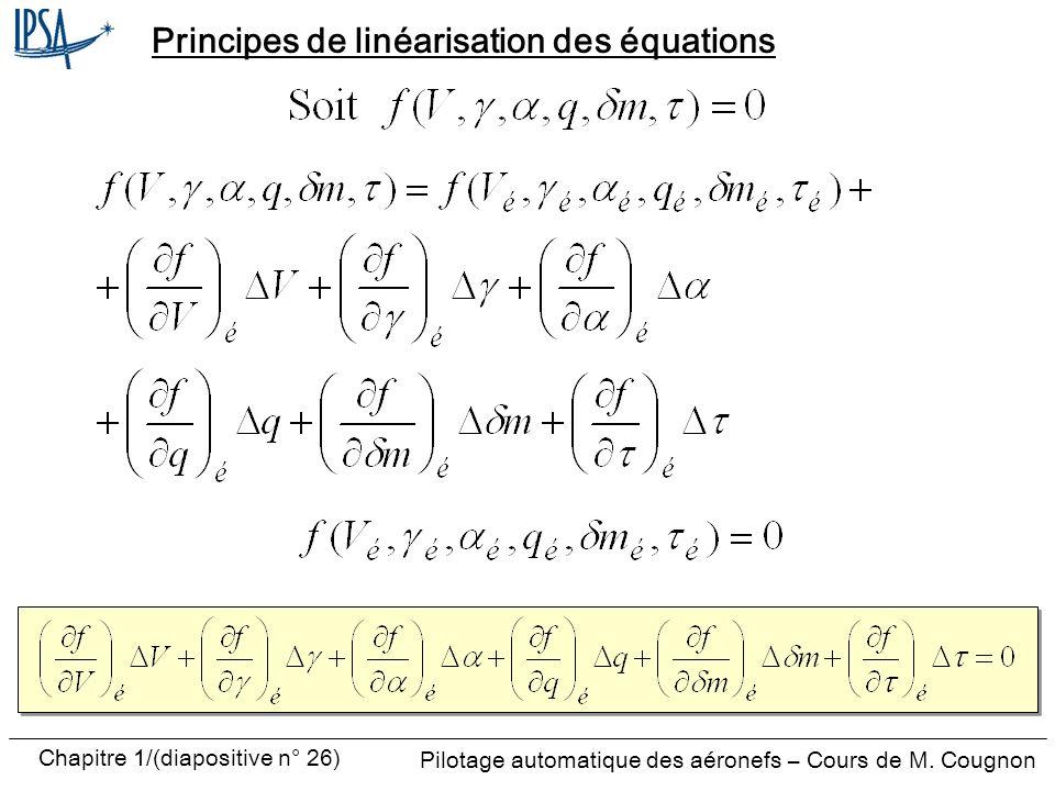 Principes de linéarisation des équations