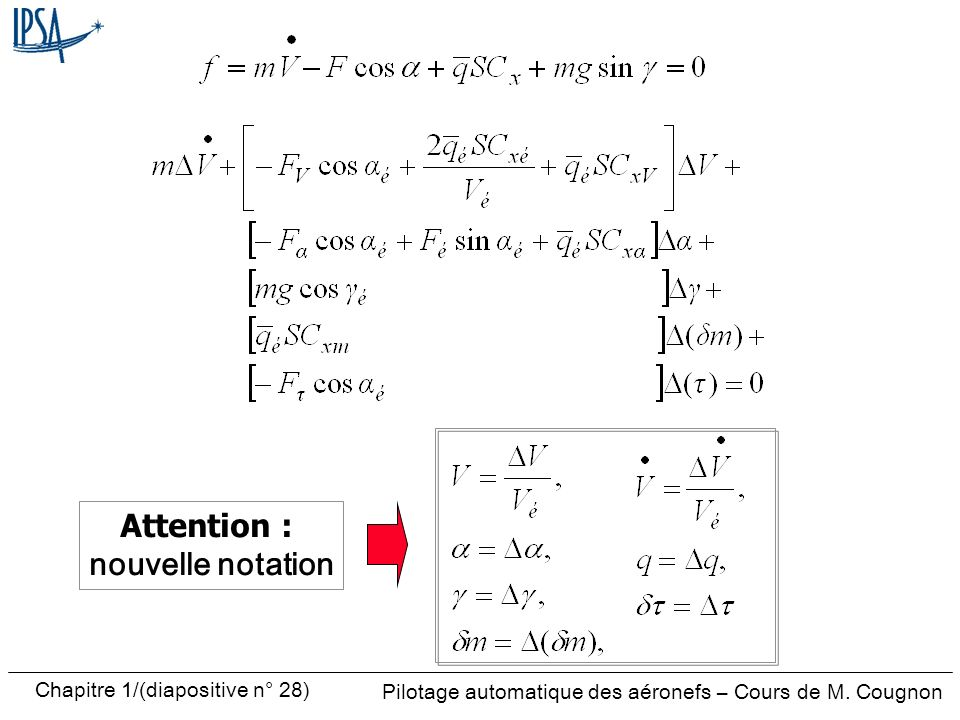 Attention : nouvelle notation