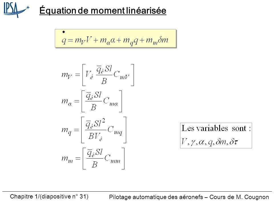 Équation de moment linéarisée