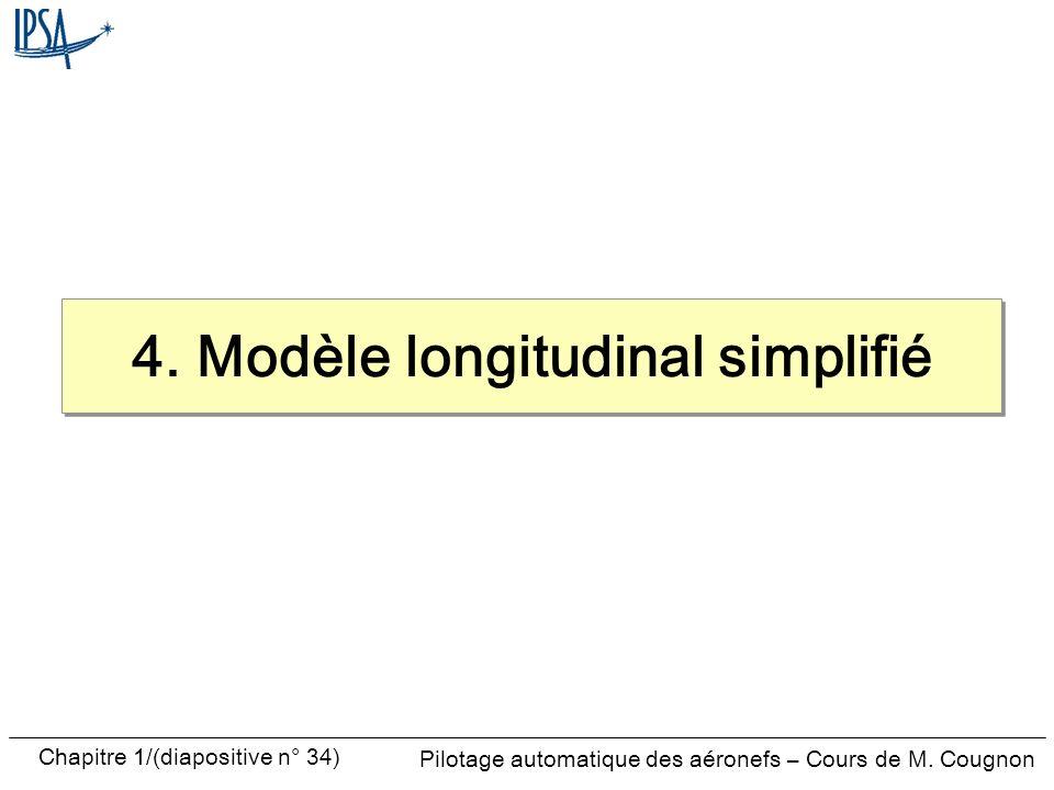 4. Modèle longitudinal simplifié