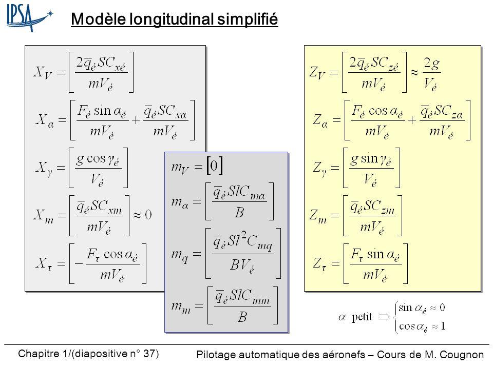 Modèle longitudinal simplifié
