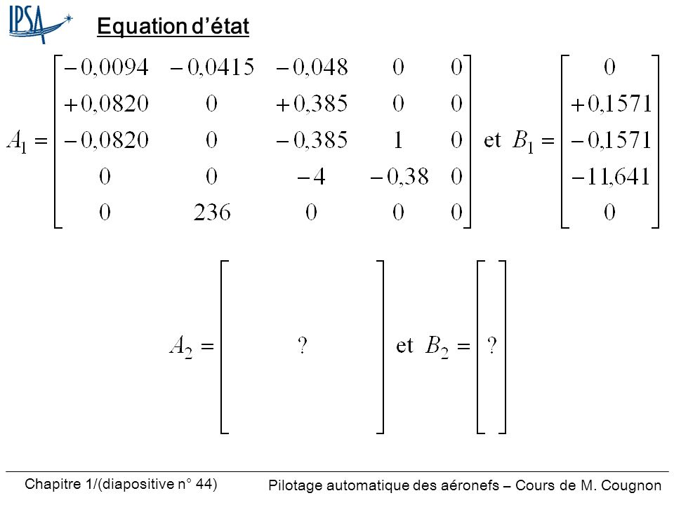 Equation d'état