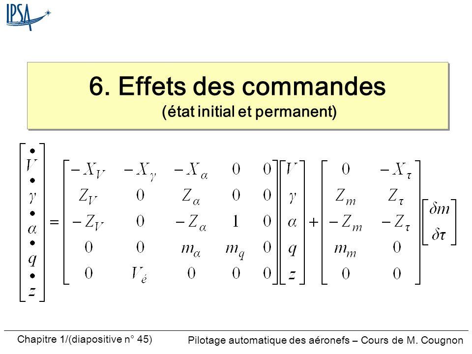 6. Effets des commandes (état initial et permanent)