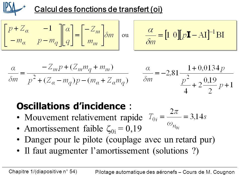 Calcul des fonctions de transfert (oi)