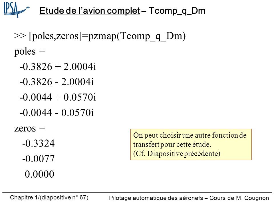 Etude de l'avion complet – Tcomp_q_Dm
