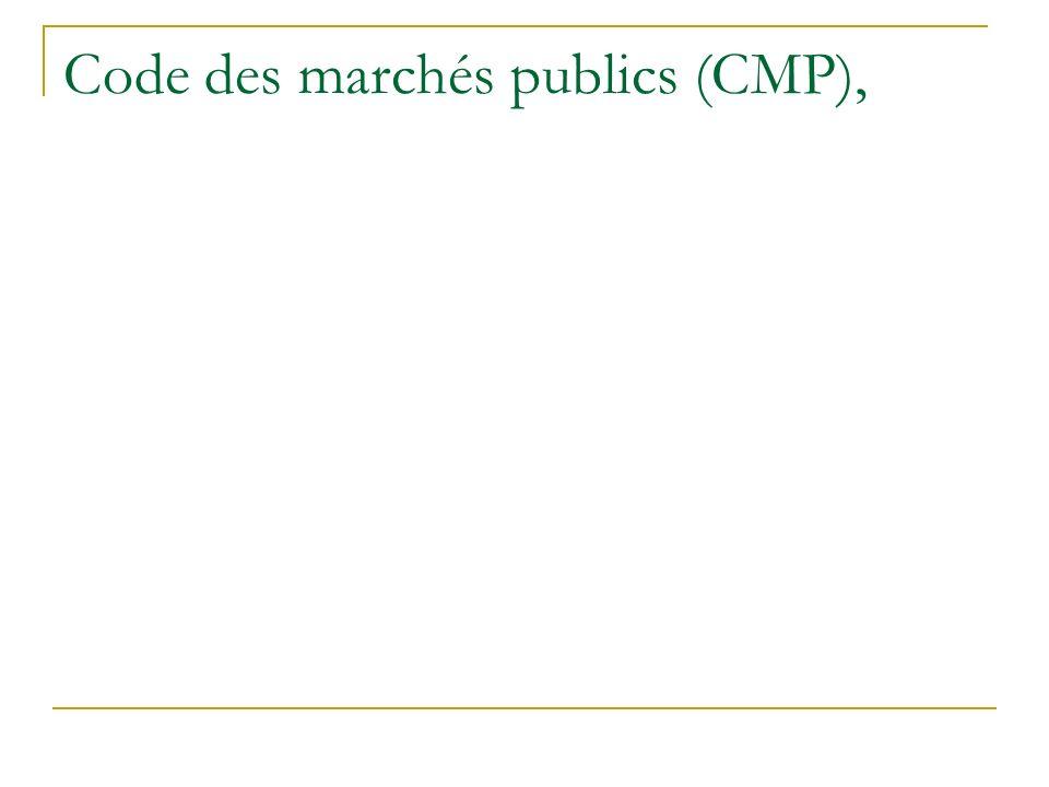 Code des marchés publics (CMP),