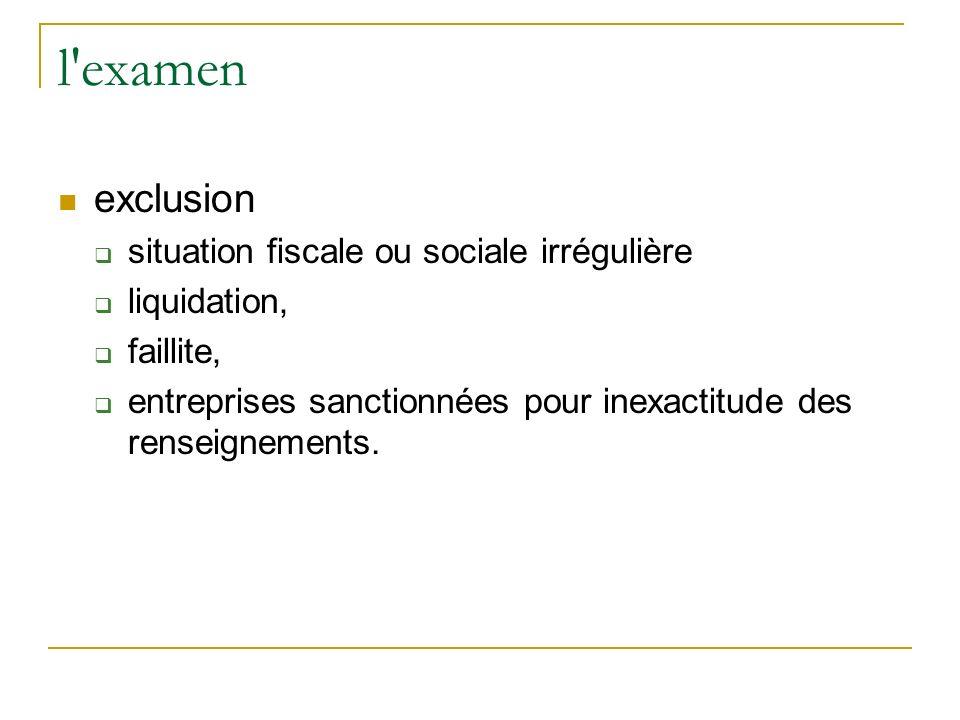 l examen exclusion situation fiscale ou sociale irrégulière