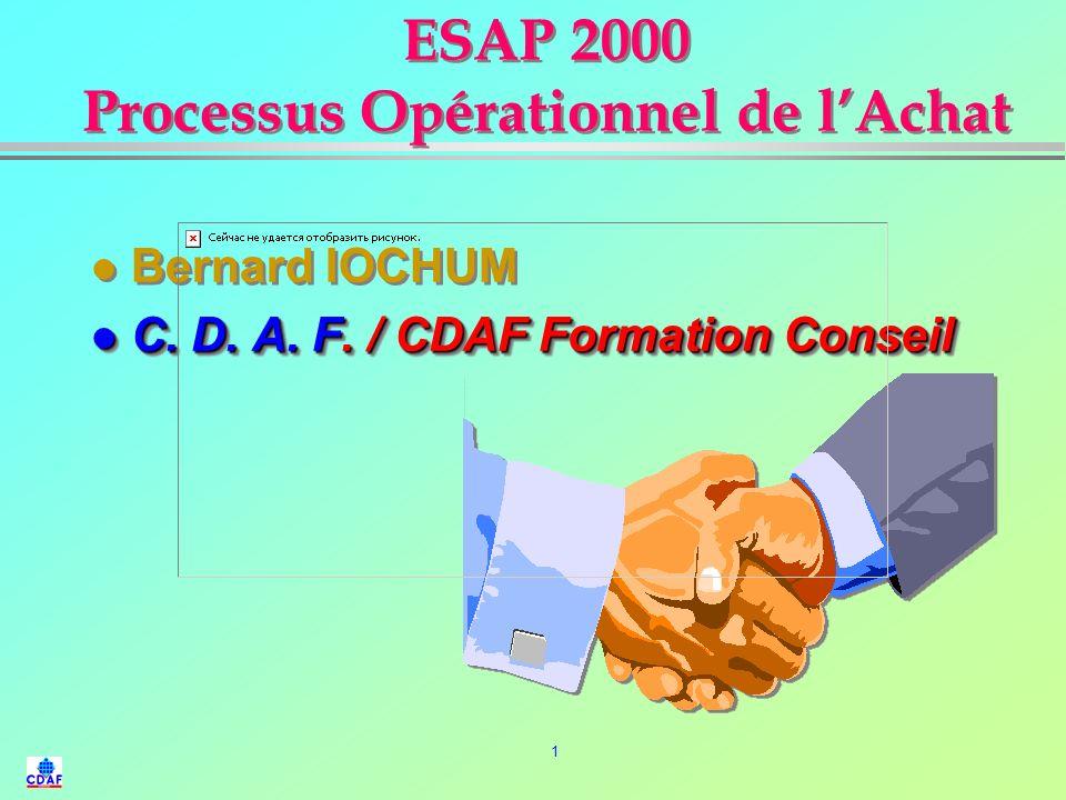 ESAP 2000 Processus Opérationnel de l'Achat