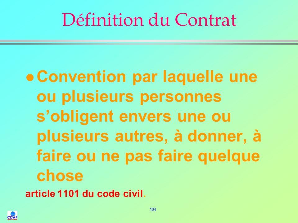 Définition du Contrat