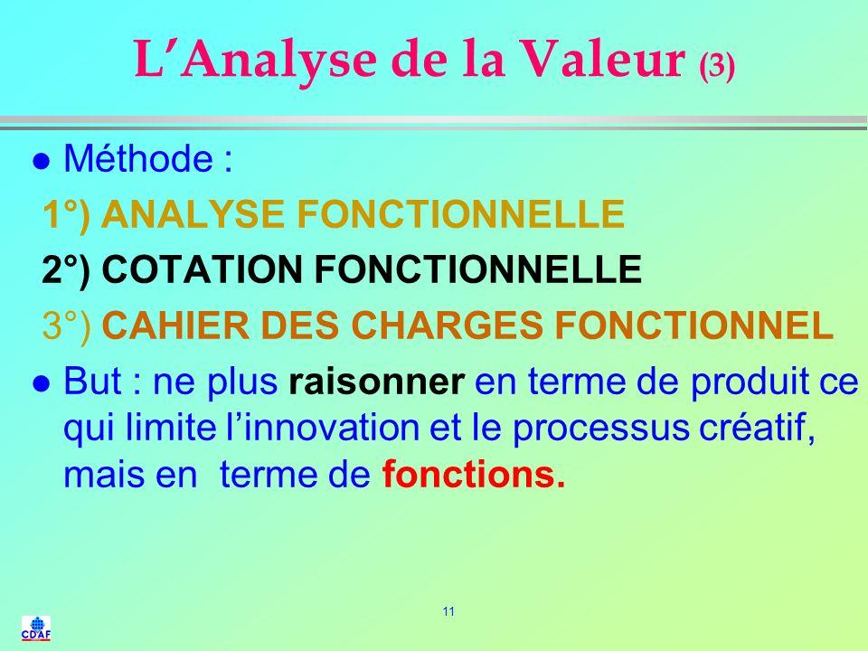 L'Analyse de la Valeur (3)