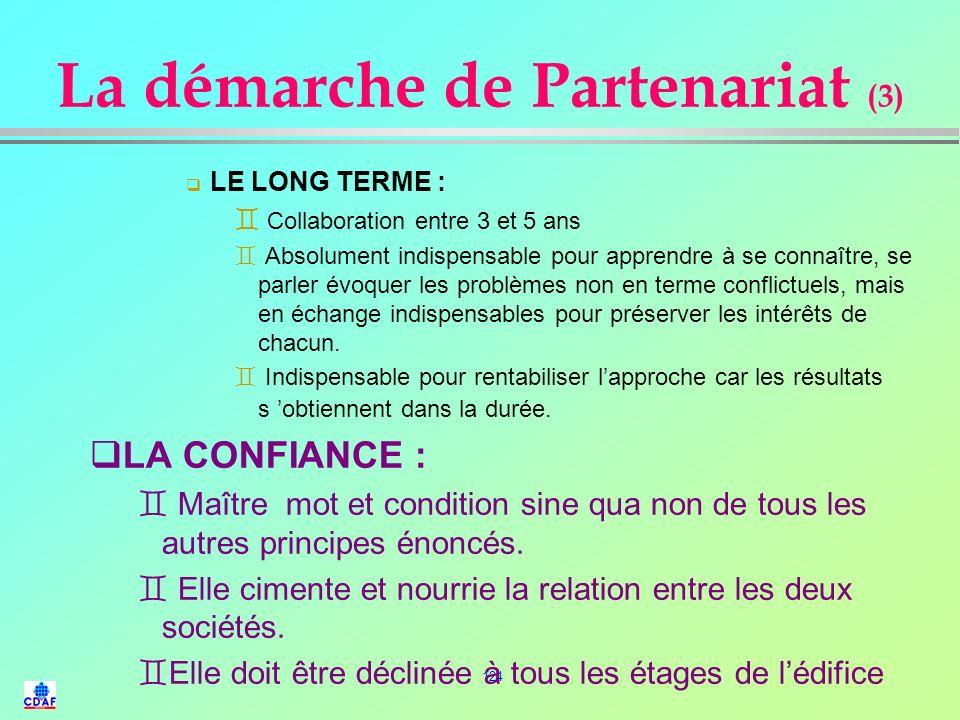 La démarche de Partenariat (3)