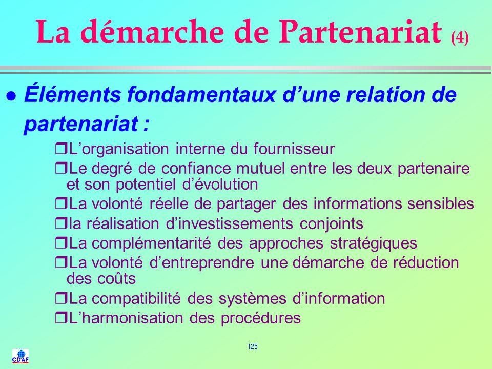 La démarche de Partenariat (4)