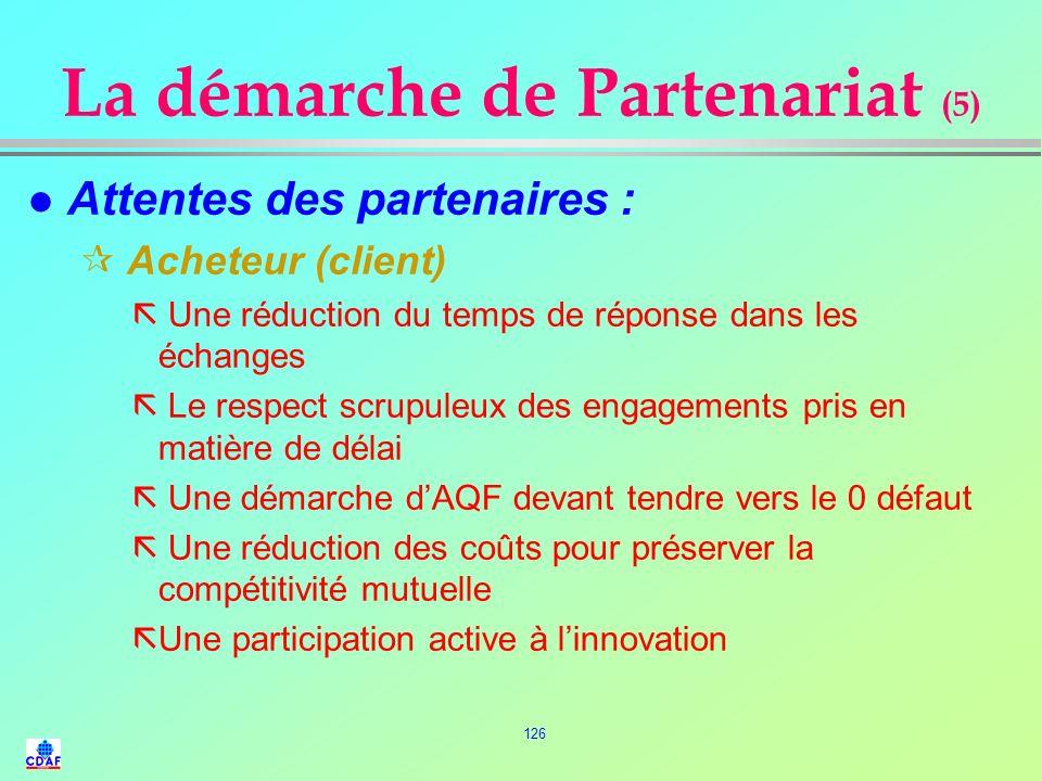 La démarche de Partenariat (5)