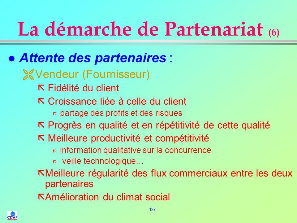 La démarche de Partenariat (6)
