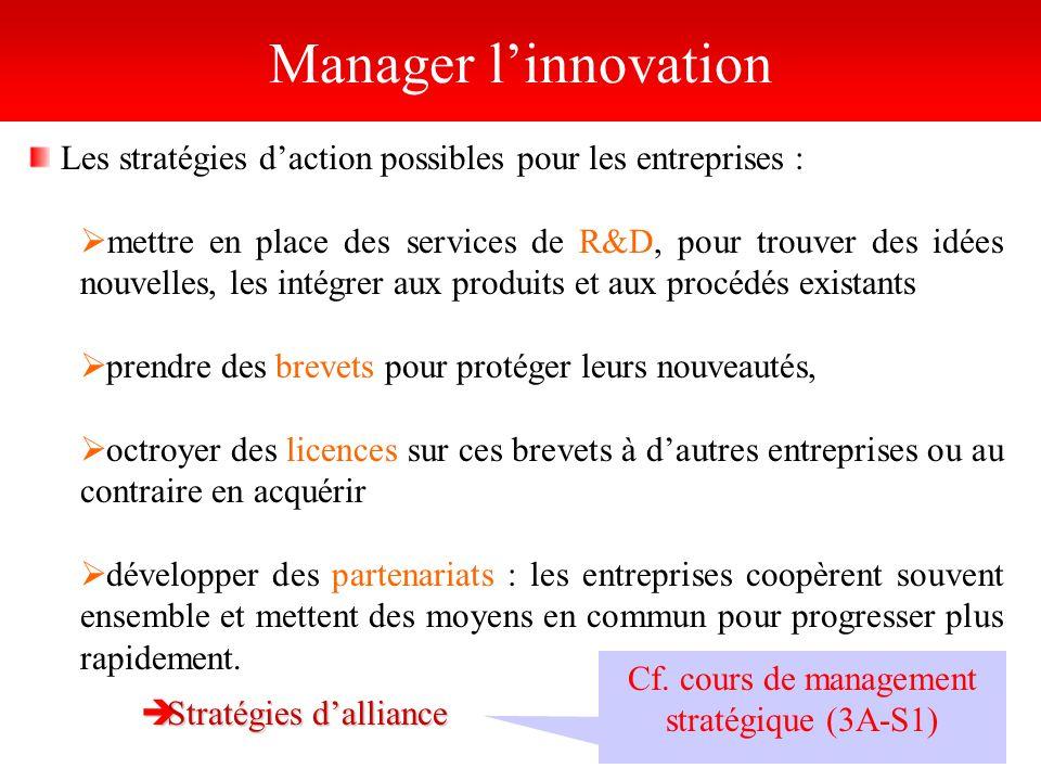 Cf. cours de management stratégique (3A-S1)