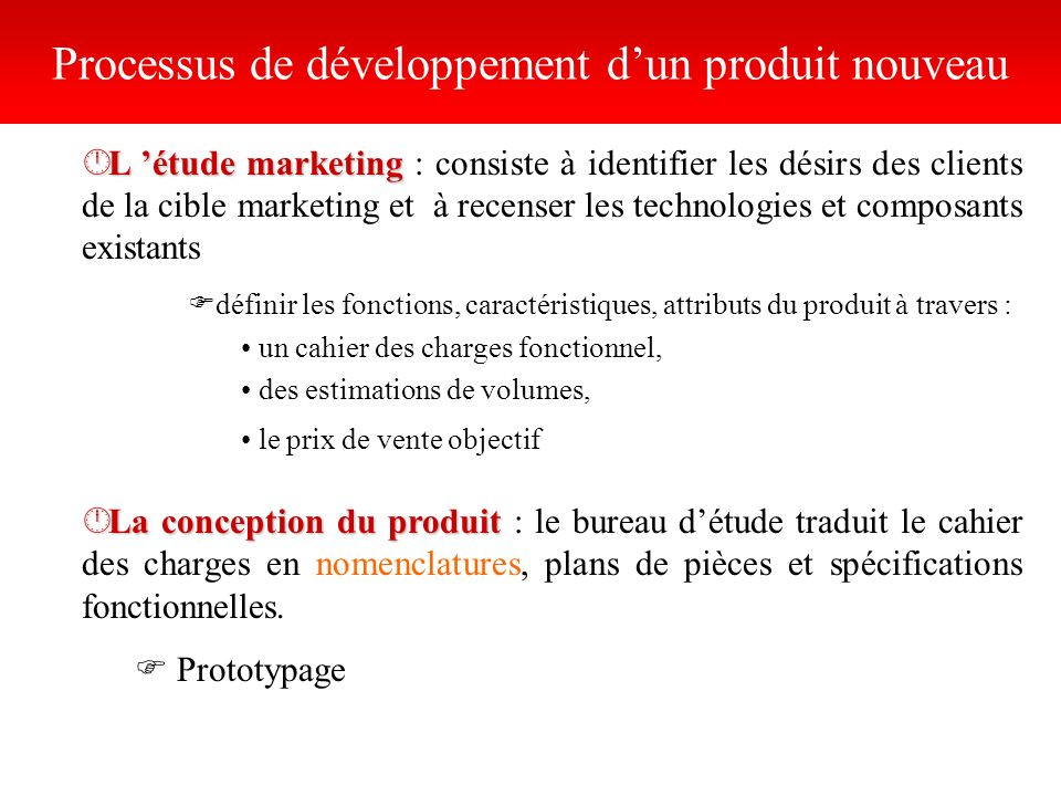 Processus de développement d'un produit nouveau