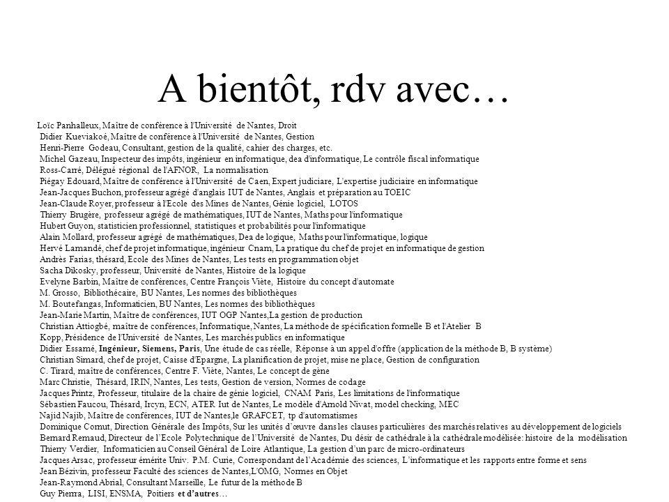 A bientôt, rdv avec… Loïc Panhalleux, Maître de conférence à l Université de Nantes, Droit.