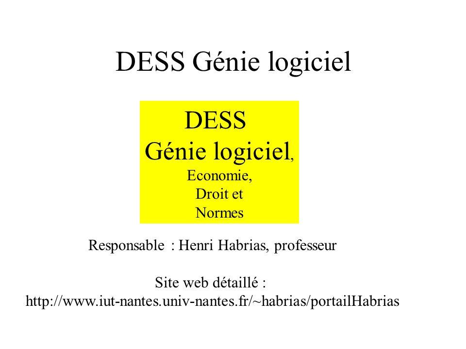 Responsable : Henri Habrias, professeur