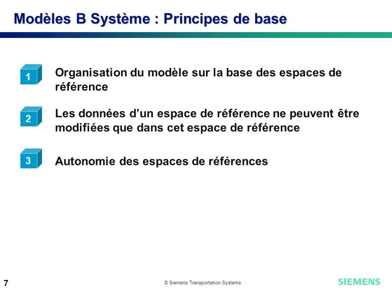 Modèles B Système : Principes de base