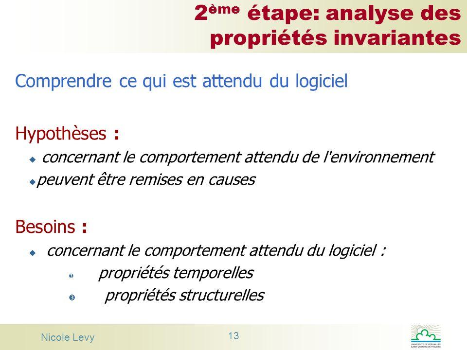 2ème étape: analyse des propriétés invariantes