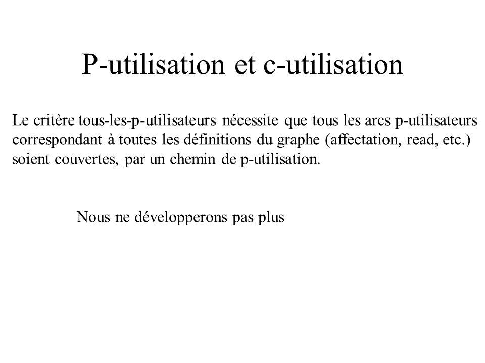 P-utilisation et c-utilisation