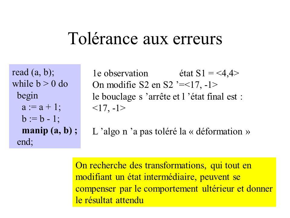 Tolérance aux erreurs read (a, b);