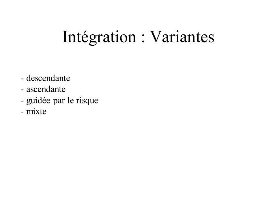 Intégration : Variantes