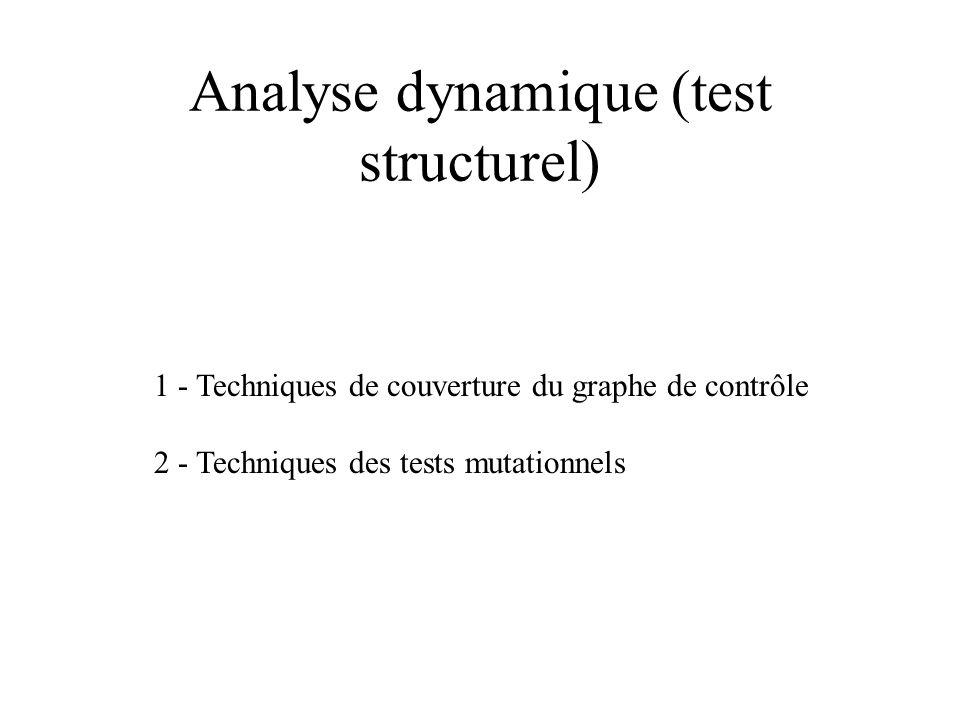 Analyse dynamique (test structurel)