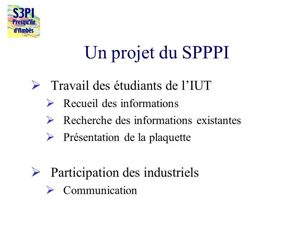 Un projet du SPPPI Travail des étudiants de l'IUT