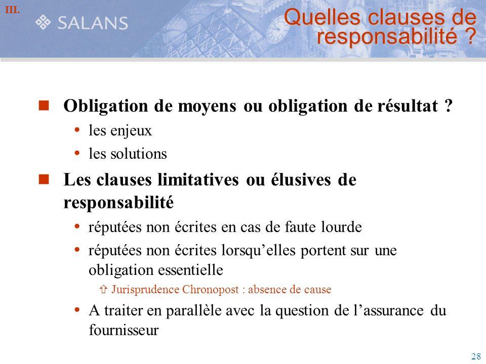Quelles clauses de responsabilité