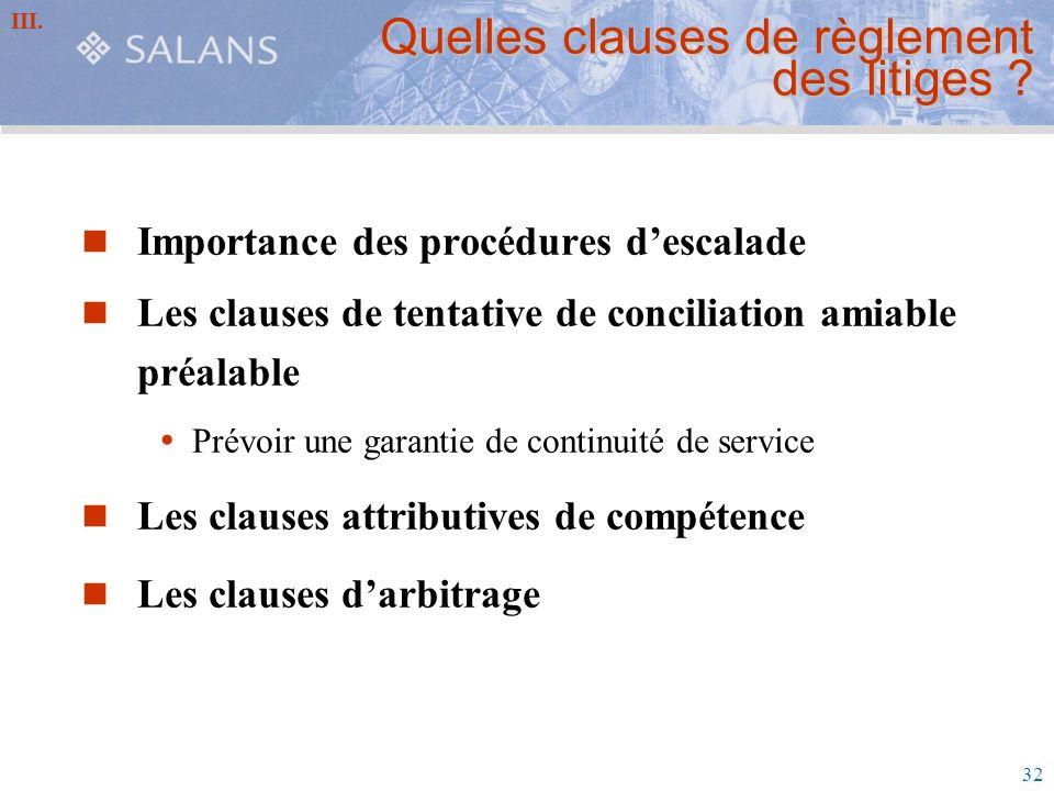 Quelles clauses de règlement des litiges