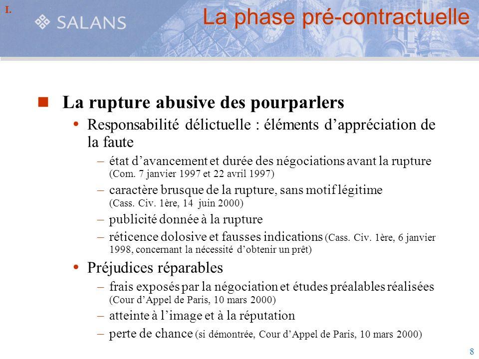 La phase pré-contractuelle