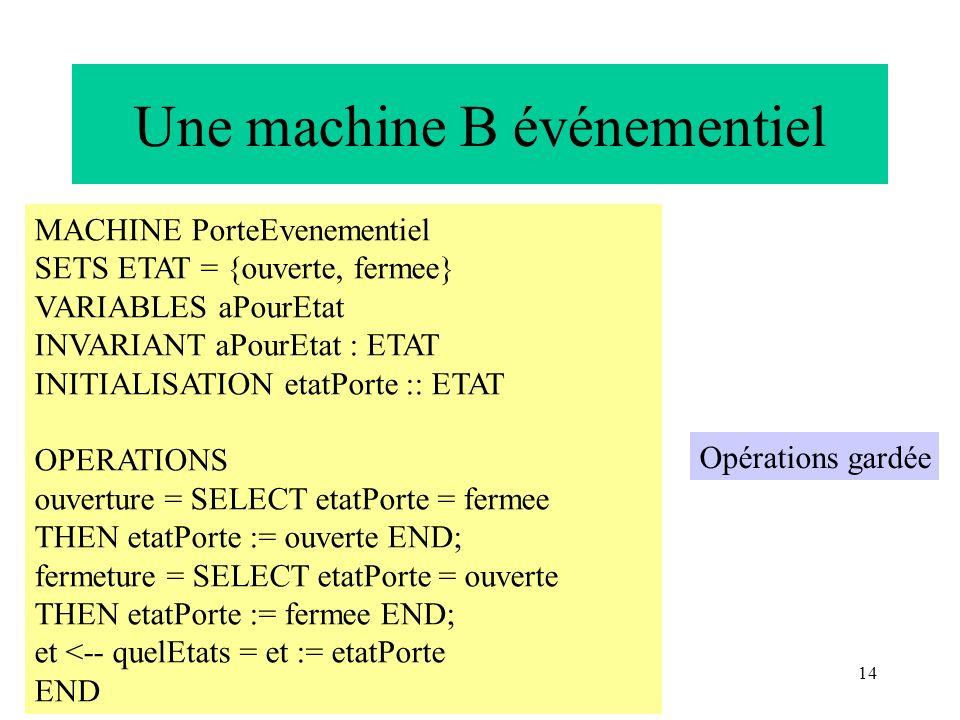 Une machine B événementiel