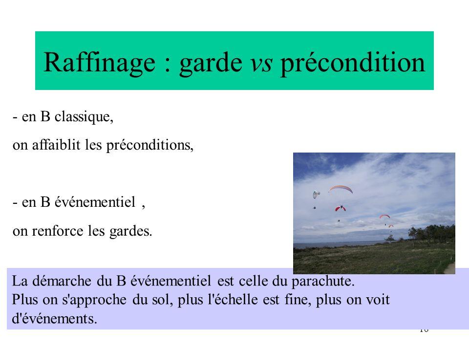 Raffinage : garde vs précondition