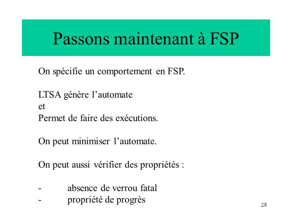 Passons maintenant à FSP