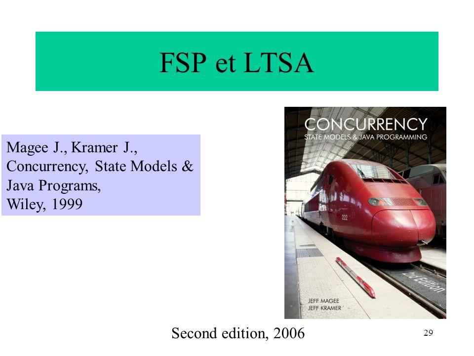 FSP et LTSA Magee J., Kramer J., Concurrency, State Models &