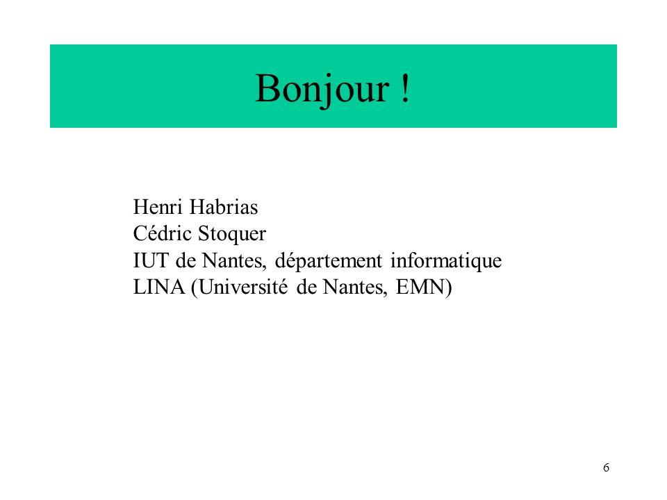 Bonjour ! Henri Habrias Cédric Stoquer