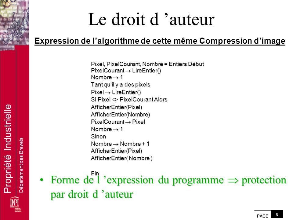 Expression de l'algorithme de cette même Compression d'image