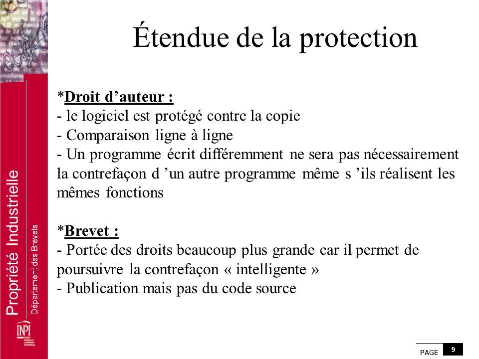 Étendue de la protection