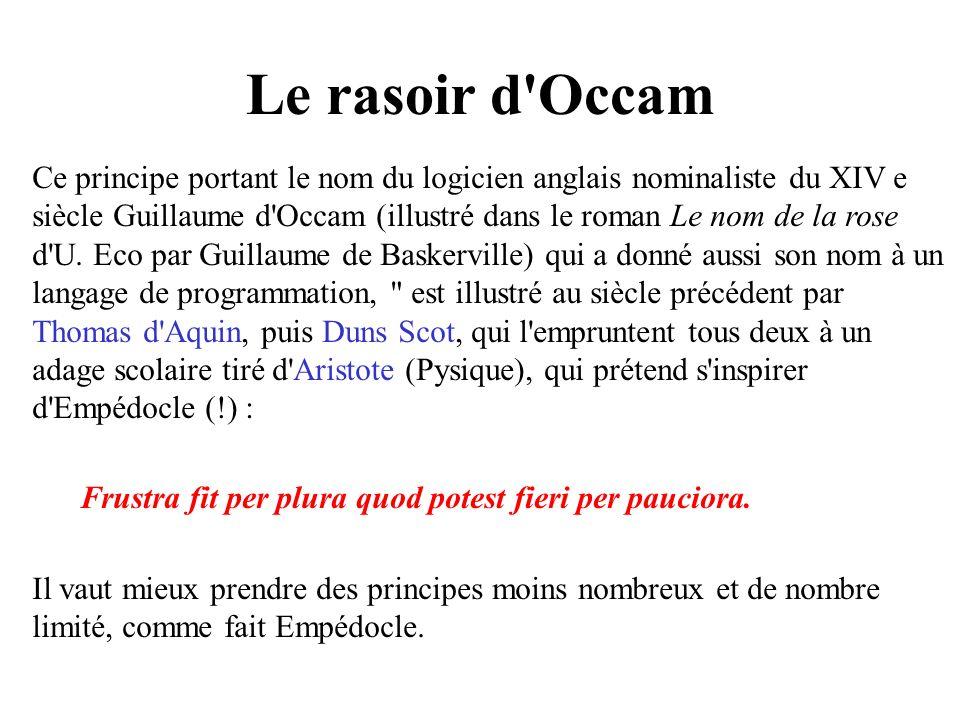 Le rasoir d Occam