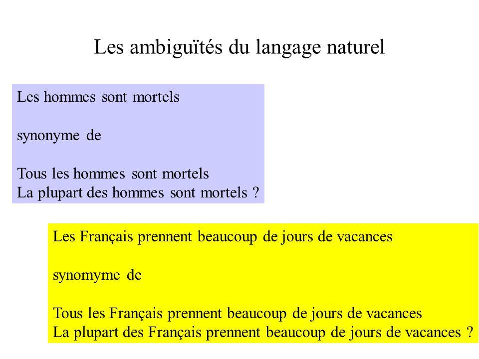 Les ambiguïtés du langage naturel